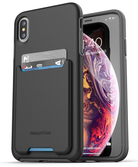 super popular 456f6 b7219 iPhone XS Max Wallet Case Credit Card ID Holder Protective Cover - Black