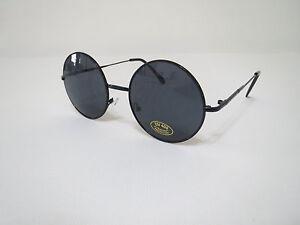d8aeb0815c Image is loading John-Lennon-Sunglasses-Round-Hippie-Shades-Retro-Black-