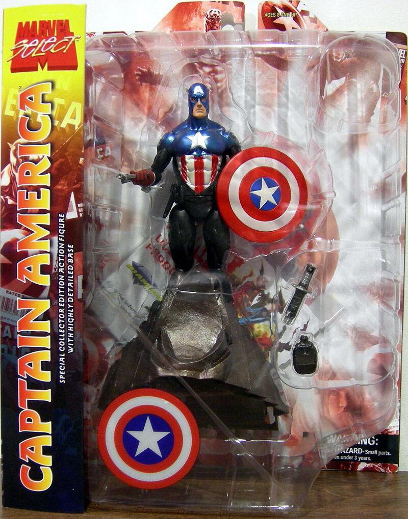 Capitan Capitan America Masked Marvel Select Action Figure DIAMOND TOYS Avengers