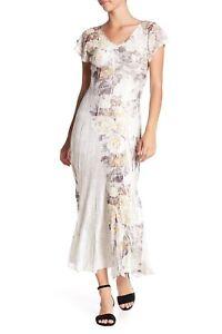 e176c951ef0  278 Komarov V-Neck Flutter Sleeve Dress FLORAL MIS Size Small S ...