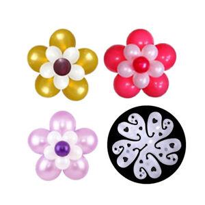 Lot-de-10-Ballon-clips-fleur-Liens-pour-decoration-accessoires-Cravate-Support-RS