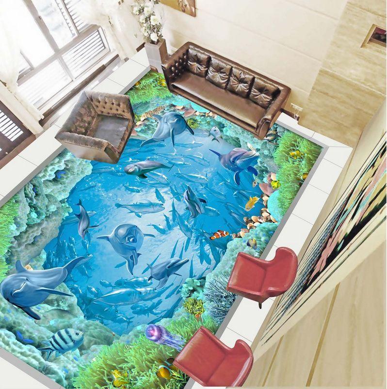 3D water fish sea 5426 Floor WallPaper Murals Wall Print Decal 5D AJ WALLPAPER