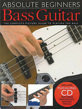 Absolute Beginners Bass Guitar Lessons Learn to Play Music Tab Book CD Pack NEW