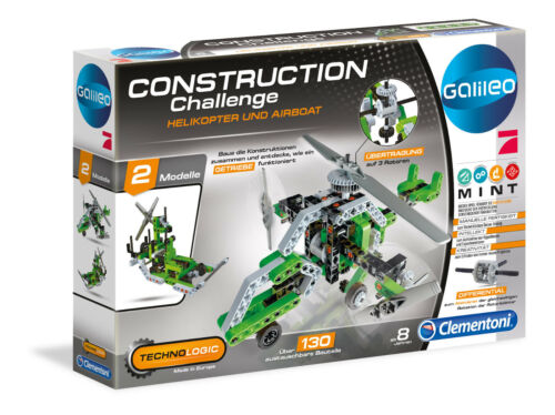 Clementoni Galileo Construction Challenge Helikopter /& Airboat 59014 Brand Toys