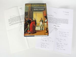 Napoleon And Persia Iradj Amini 1st Ed Signed British Ambassador Correspondence Easy To Use Antiques Books