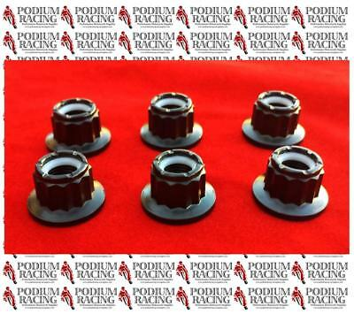 DUCATI TITANIUM 12 POINT SPROCKET NUTS SET OF 6  WITH SELF-LOCK  1199 PANIGALE