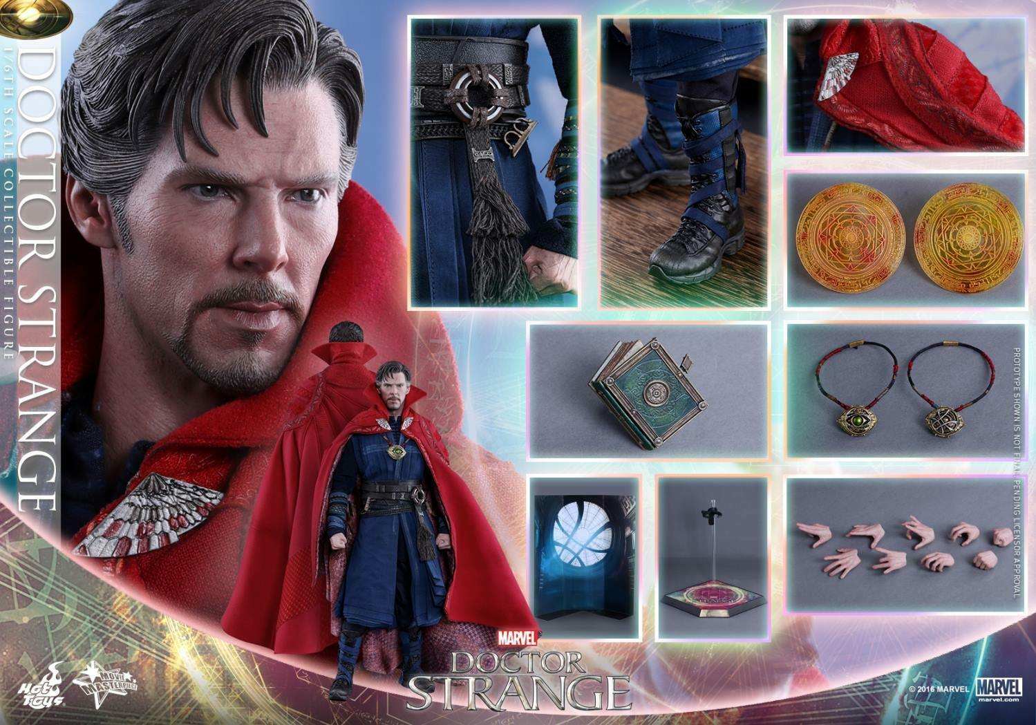 1/6 Hot Toys Marvel Doctor Strange MMS387 Stephen Strange Masterpiece Figure