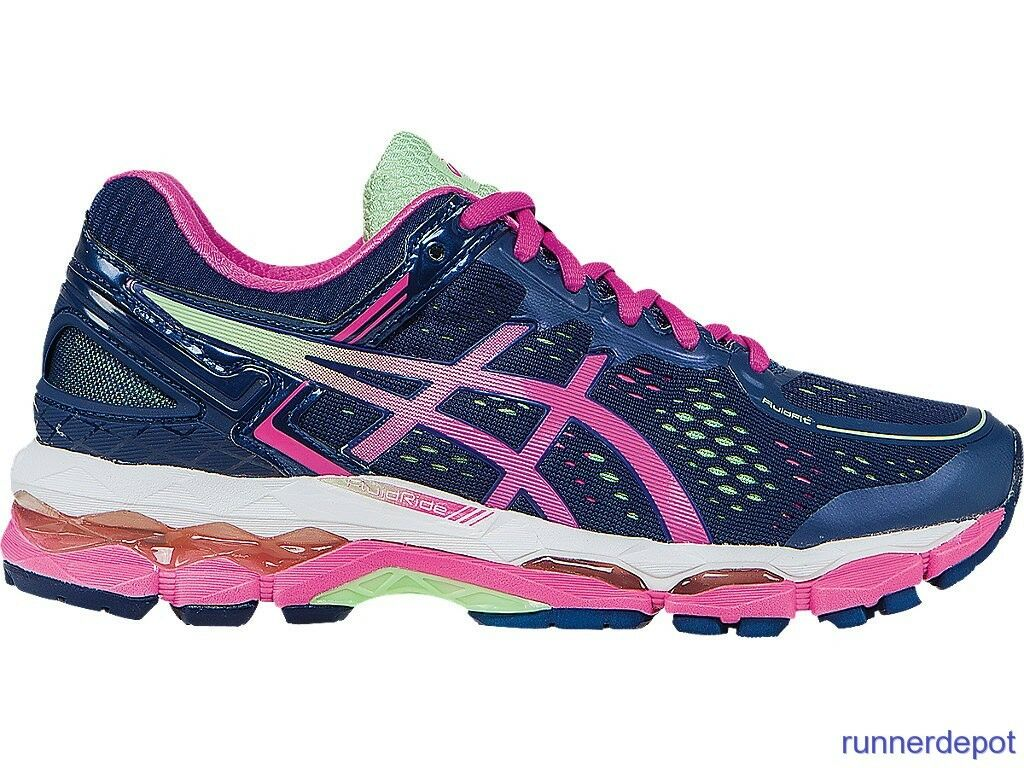 NEW Asics Gel Kayano 22 femmes Running Chaussures INDIGO bleu/rose GLOW NEW IN BOX