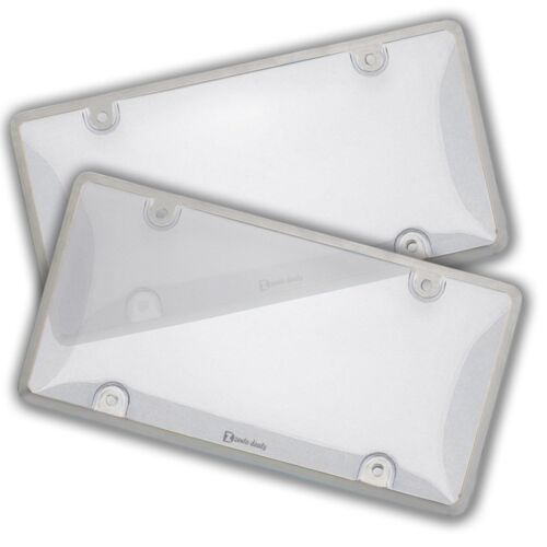 Zento Deals 2 Pack Unbreakable-Heavy-Duty All Weather Clear License Plate Shield