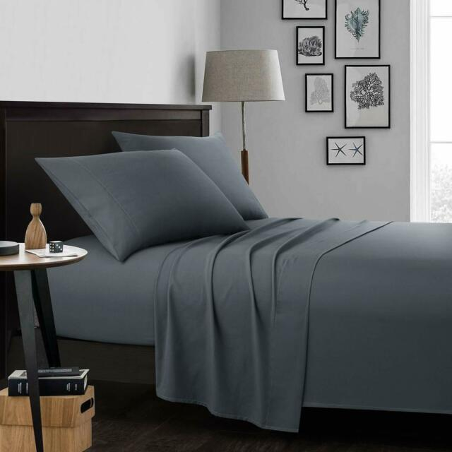 100% Egyptian Cotton Deep Pocket Ultimate 4 Piece Bed Sheet Set Hypoallergenic