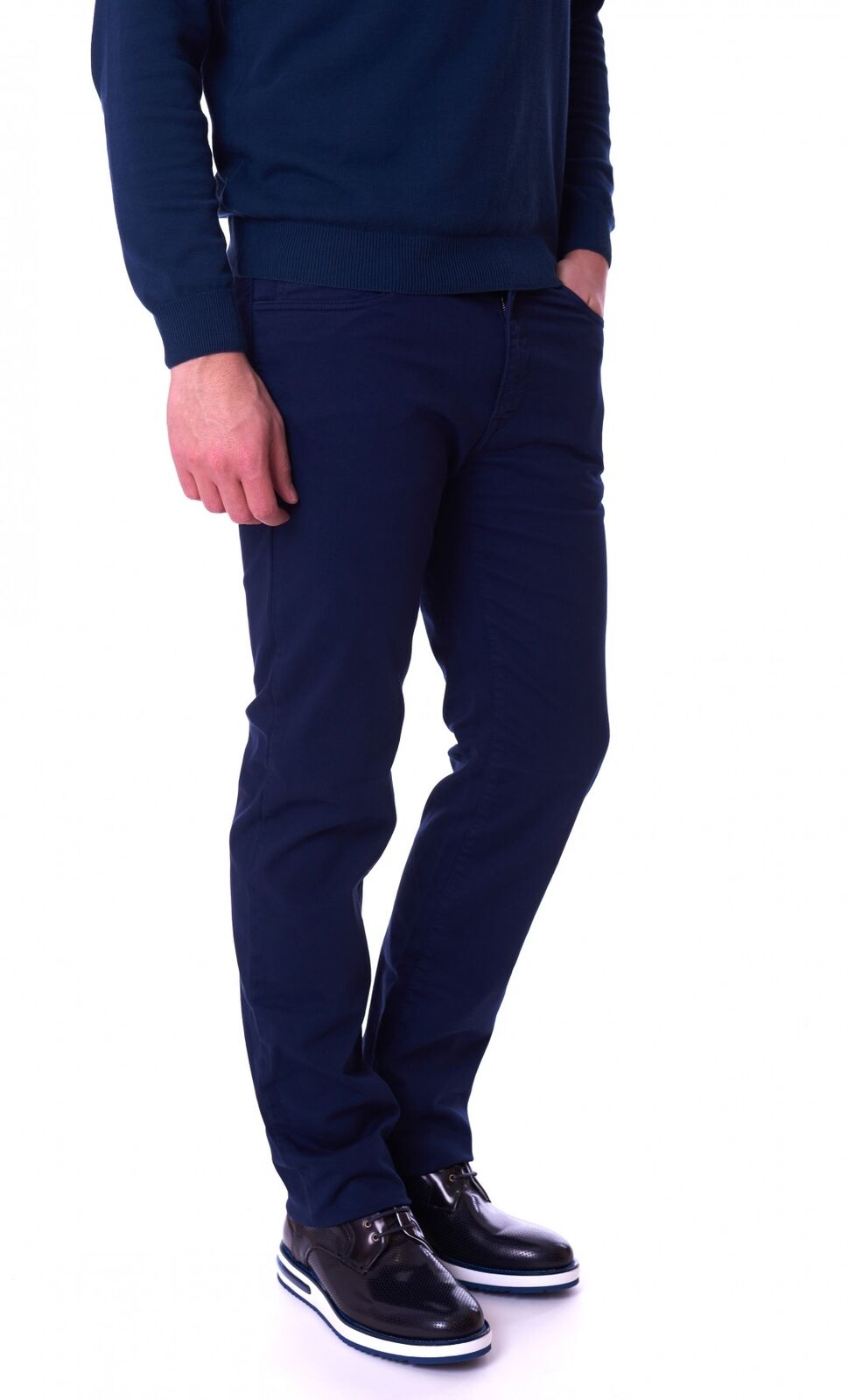 PANTALONE TRUSSARDI JEANS 380 ICON IN COTONE blue Trussardi Jeans 52J00004-1Y0905
