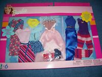 Barbie 6 Fashion Gift Pack 2002 - Includes 6 Complete Outfits - Mattel 68073