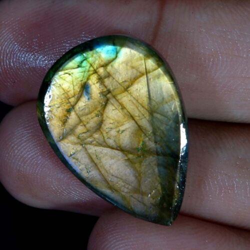 100/% natural púrpura fuego esmeralda Labradorita Pera Cabujón piedra suelta J1