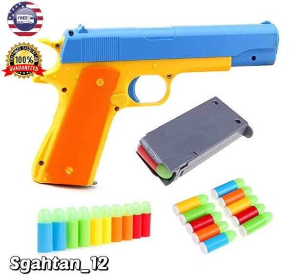 Classic Toys Pistol Children S Toy Kids Guns Soft Bullet Plastic Game Gun For Sale Online Ebay