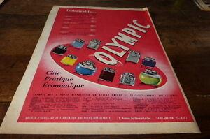 OLYMPIC-CHIC-PRATIQUE-ECONOMIQUE-Publicite-de-presse-Press-advert-1955