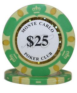 50pcs 14g Monte Carlo Millions Casino Poker Chips $10000
