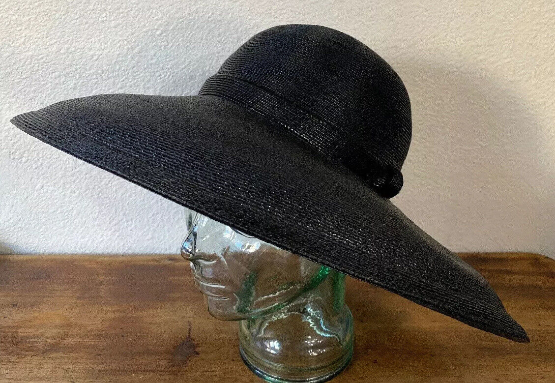 Vintage Amen Wardy Large Hat ! 1980's Large Brim … - image 2