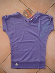 C329-Spirit-of-Hope-Girls-Shirt-mit-Vogel-Stickerei-und-Logo-Aufnaeher-gr-140