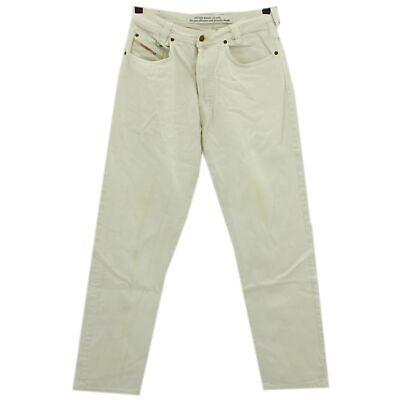 2019 Ultimo Disegno #4278 Diesel Jeans Uomo Pantaloni New Saddle 330 Denim White Bianco 32/32-mostra Il Titolo Originale