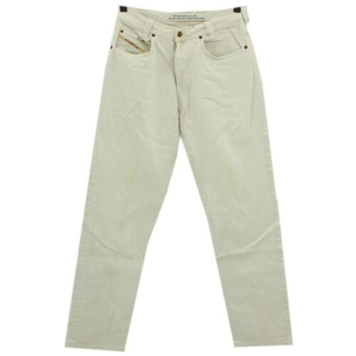 #4278 DIESEL JEANS UOMO PANTALONI NEW SADDLE 330 DENIM WHITE BIANCO 32/32