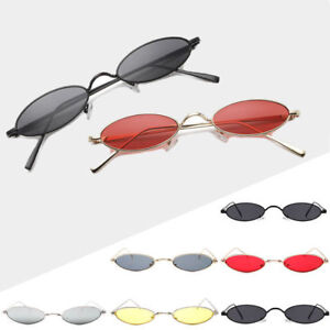 2d015344fd1a VINTAGE SMALL OVAL FRAME SUNGLASSES WOMEN S RETRO FASHION SHADES ...