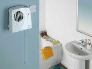 Dimplex Winterwarm Bathroom Downflow Fan Heater Wall Mounted Pull Cord WWDF20E