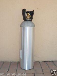 Co2 15 Lb Aluminum Cylinder Tank Cga 320 Valve Carry