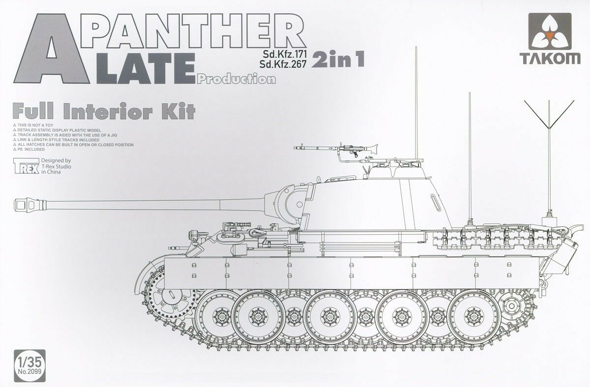 TAKOM PANTHER A SD.KFZ.171 267 LATE PROD.FULL INTERIOR 2 IN 1 1 35 2099