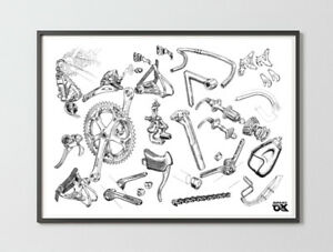 Shimano Dura Ace AX groupset poster
