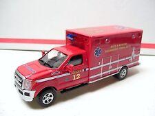 The Menards ~ 1:48 Diecast Ford F350 Lighted Ambulance - Red ~ NIB