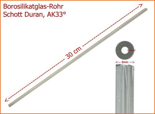 20 St borosilicate cristal tubo SCHOTT DURAN® AK33 ° 6//2 1,25 € // St 2x300mm