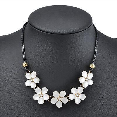 Flower Crystal Women Choker Chunky Statement Bib Necklace Charm Chain Pendant