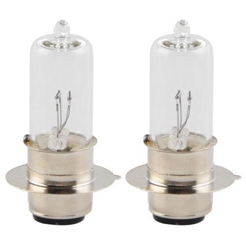 2PCS 35W Clear Halogen Headlight Bulb For Yamaha ATV High Dipped Beam 2 Filament