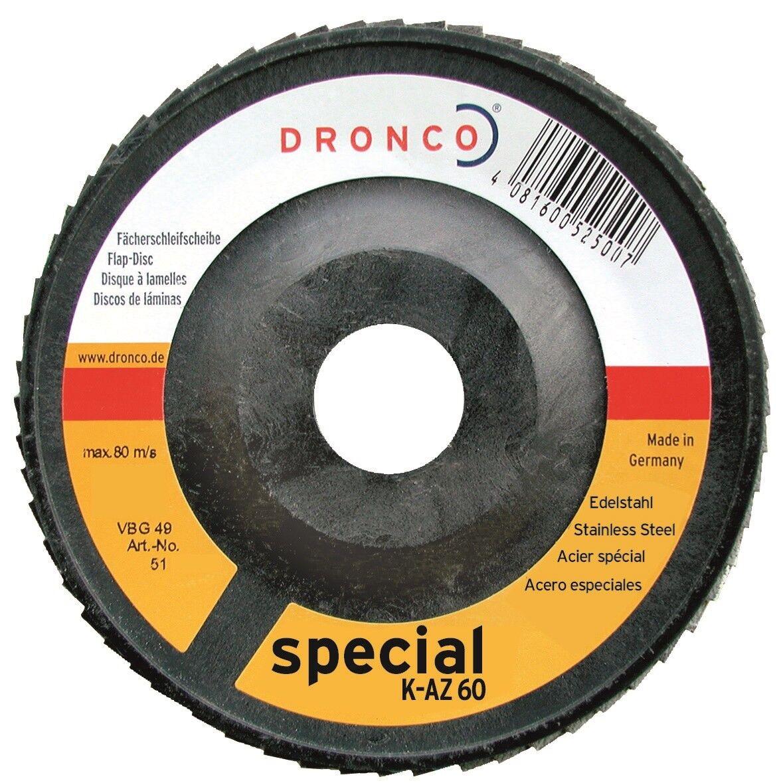 Disco de asignaturas 125 x 22,2 circonita, K 40 - 120, de acero, va, triángulo lija