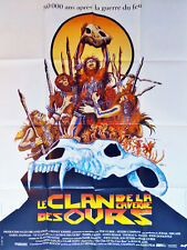 Affiche 40x60cm LE CLAN DE LA CAVERNE DES OURS/…CLAN OF THE CAVE BEAR 1986 NEUVE