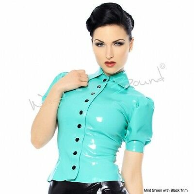 Rubber Latex Shirt Fetish Clothing Burlesque Fashion Couture 1513 WESTWARD BOUND