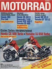 Motorrad 13 1982 Maico Honda CX500 Yamaha XJ650 Turbo CBX Pro Link XS400 CB400N