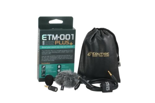 3.5mm TRS Microphone Kit for Cameras and Audio Recorders ETM-001 PLUS