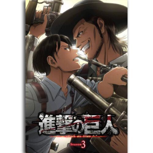 N-1523 Nuevo Attack On Titan Season 3 Hot Japan Anime Fabric POSTER 20x30 24x36