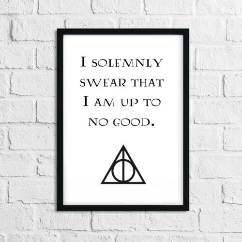 A4 Harry Potter Inspiring Life Quote Poster Sign Picture Wall Art Gift Print