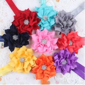 10X Cute Girl's Baby Toddler Infant Flower Hair Bow Band Headband Accessories