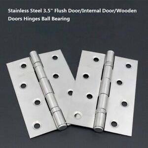 Internal Door Hinges >> Details About Stainless Steel 3 5 Flush Door Internal Door Wooden Doors Hinges Ball Bearing