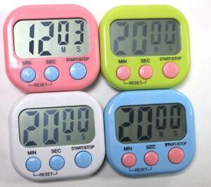 Digital Kitchen Cook Portable Countdown Timer Clock LCD Screen Alarm ...