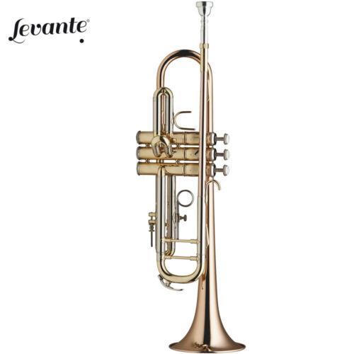 Case Levante LV-TR6305 Professional Concert Series Bb Clear Lacquer Trumpet