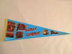 Luray-Caverns-Virginia-Felt-Pennant-Vintage-Souvenir-Flag-VA