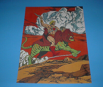 HE-MAN MASTERS OF THE UNIVERSE BATTLE CAT POSTER PIN UP