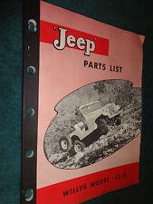 1955 & PRIOR WILLYS JEEP PARTS CATALOG / ORIGINAL CJ-5 PARTS BOOK