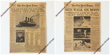 "2pcs/lot New York Times news paper Vintage Style Retro Paper Poster 16"" x 11"""