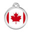 ENGRAVED-DOG-ID-TAG-DISCS-Flag-UK-USA-Canada-Germany-Italy-Red-Dingo thumbnail 12