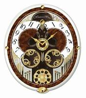 """Seiko Clock - """"Melodies In Motion: French Horns"""" Musical Wall Clock QXM265BRH"""